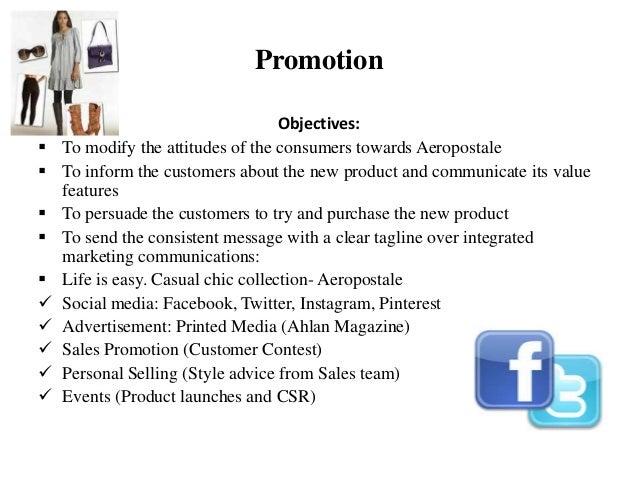 An example of Aeropostale marketing strategy presentation