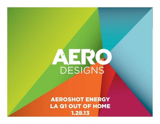 CLICK TO EDIT MASTER TITLE STYLE          AEROSHOT ENERGY          LA Q1 OUT OF HOME                 1.28.13