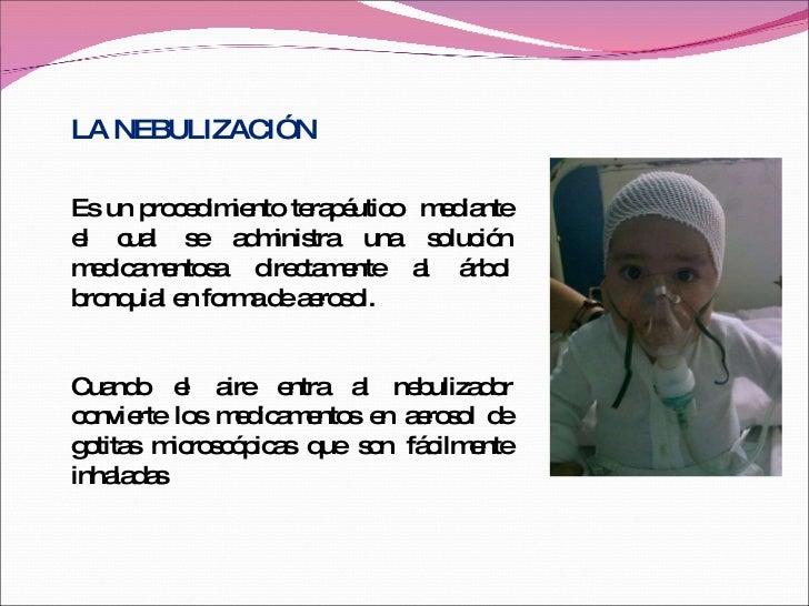 Aerosolterapia Y Nebulizacion