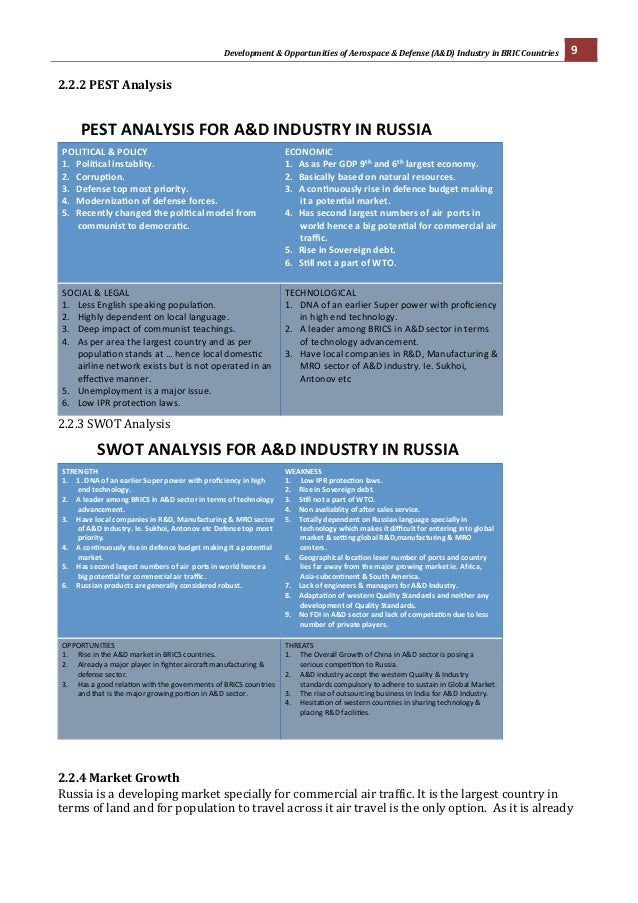 pest analysis of russia Table 21: gazprom's share in russian fuel and energy industry    management's discussion and analysis of financial condition and results of.