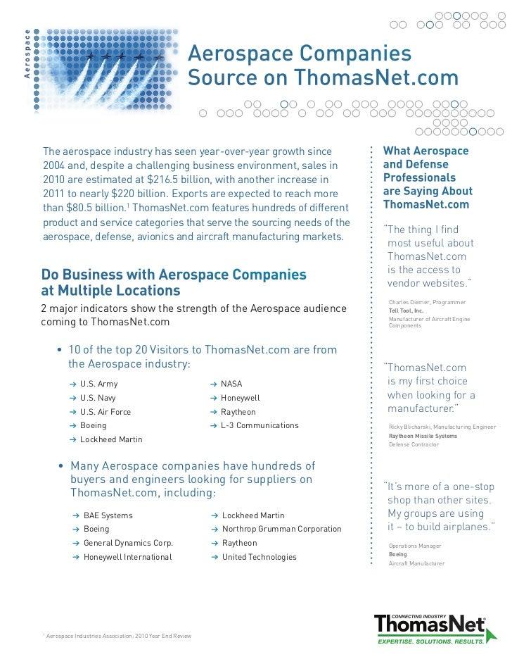 Aerospace Fact Sheet 2011