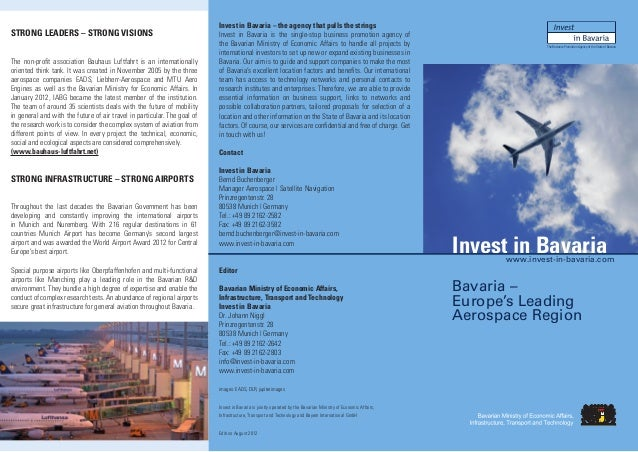Invest in Bavaria – the agency that pulls the stringsSTRONG LEADERS – STRONG VISIONS                                      ...