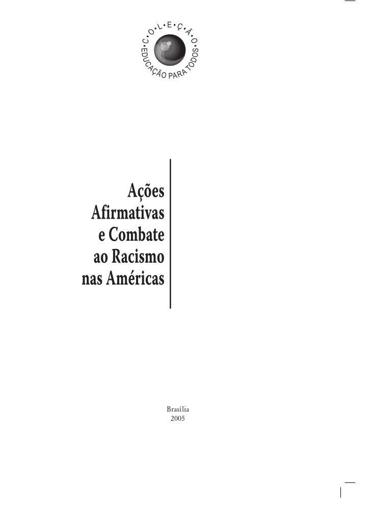 32a5118e8d Ações afirmativas e combate ao racismo nas américas