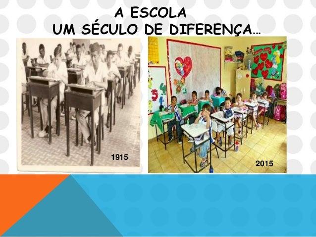 A ESCOLA UM SÉCULO DE DIFERENÇA... 1915 2015