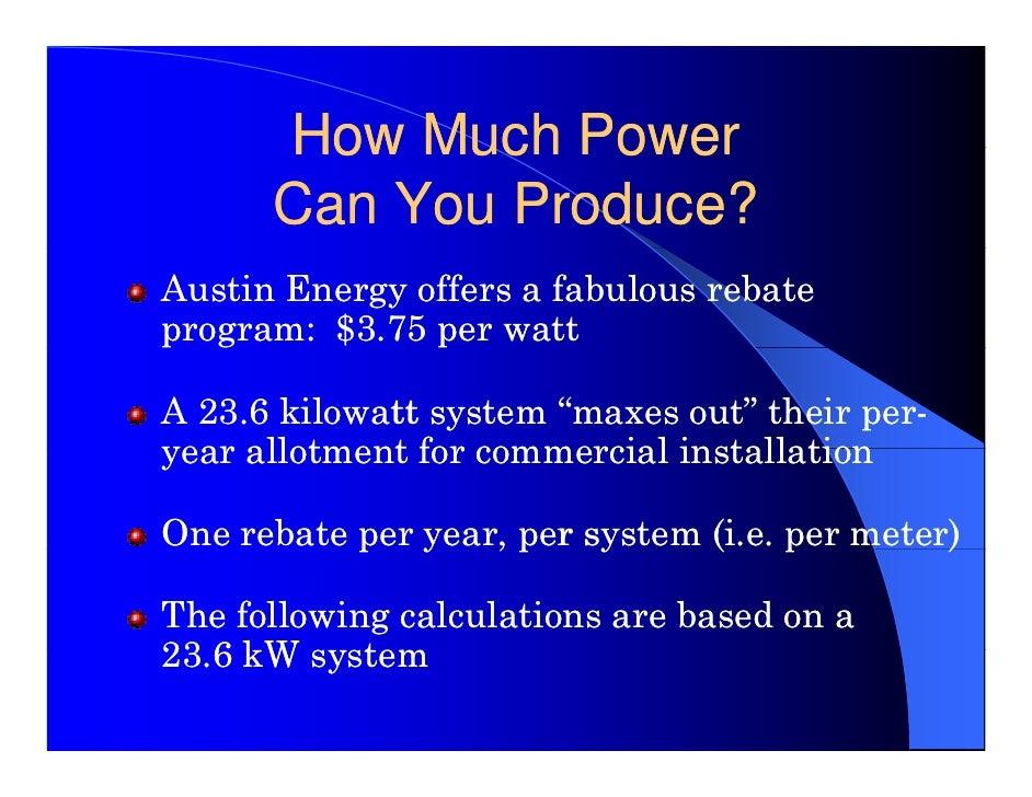 Solar 101 Austin Energy Commercial Customers