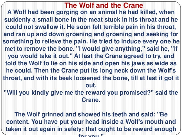 story of the wolf and the lamb