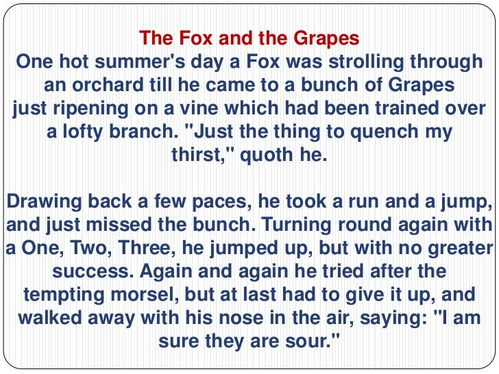 wolf and grapes story