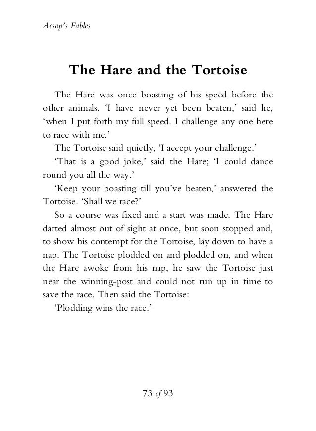 hare and tortoise rules pdf