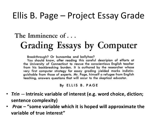 Automated essay scoring