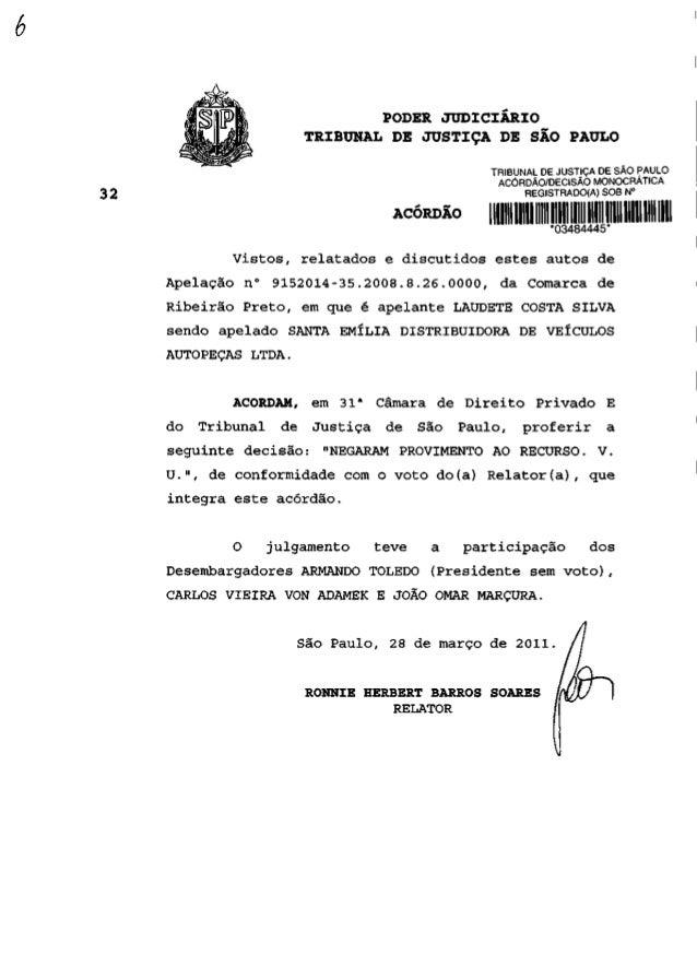 PODER JUDICIÁRIO                  TRIBUNAL DE JUSTIÇA DE SÃO PAULO                                          TRIBUNAL DE JU...