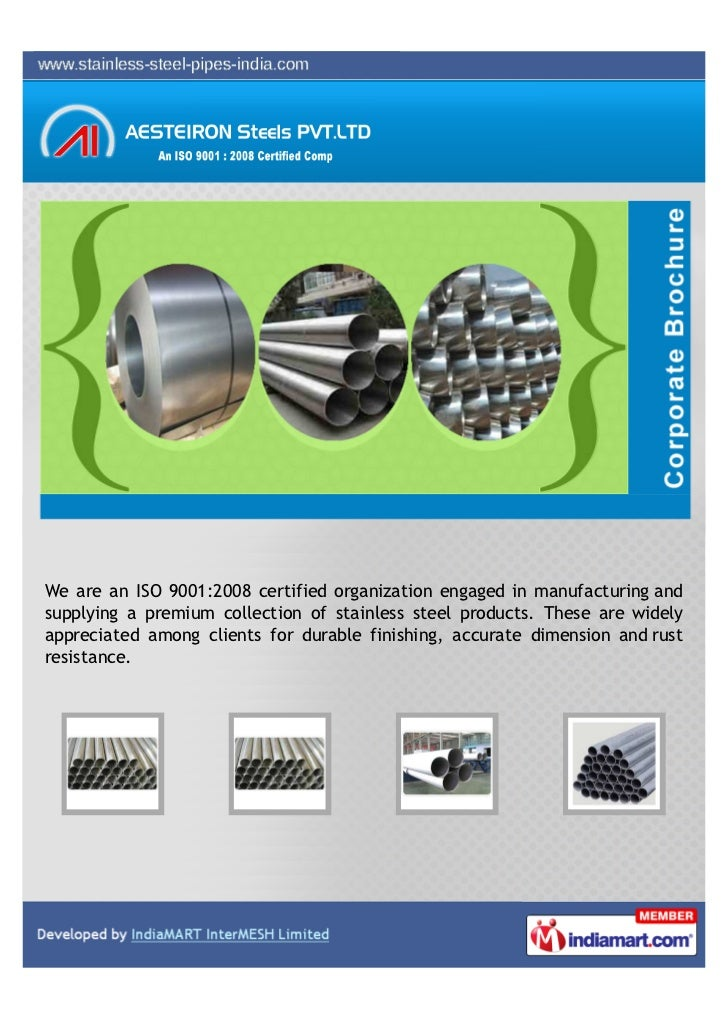 We are an ISO 9001:2008 certified organization engaged in manufacturing andsupplying a premium collection of stainless ste...