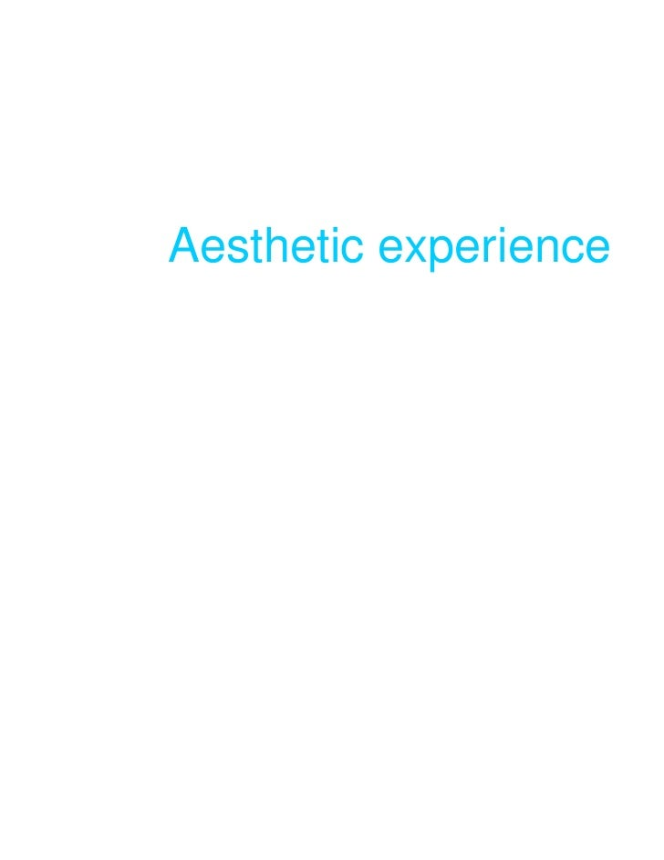 Aesthetic experience