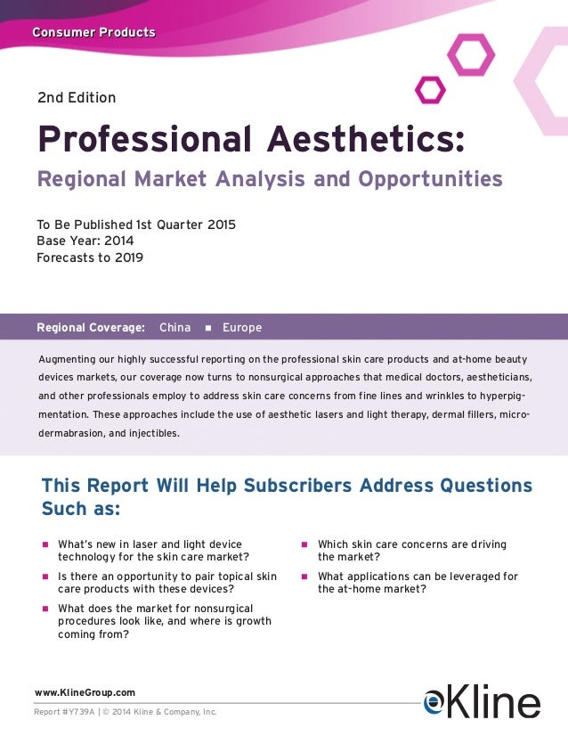 NEW! Professional Aesthetics:Regional Market Analysis and Opportunities