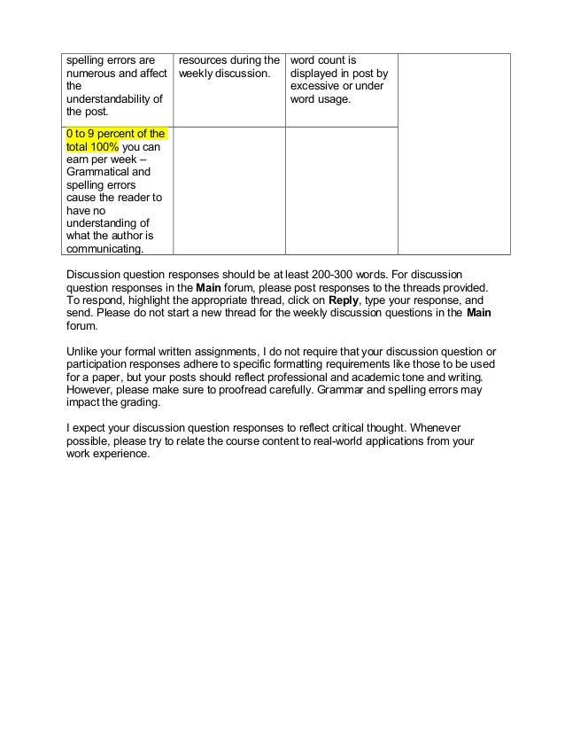 Aet 541 ~ class participation rubric