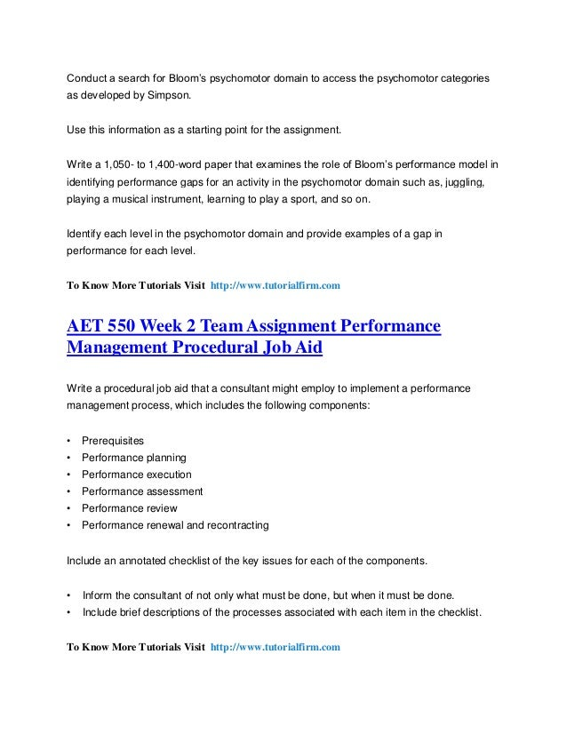 performance improvement plan aet 550 Performance improvement plans (pips) can be a constructive method for  supporting employees who are struggling in an area of performance.