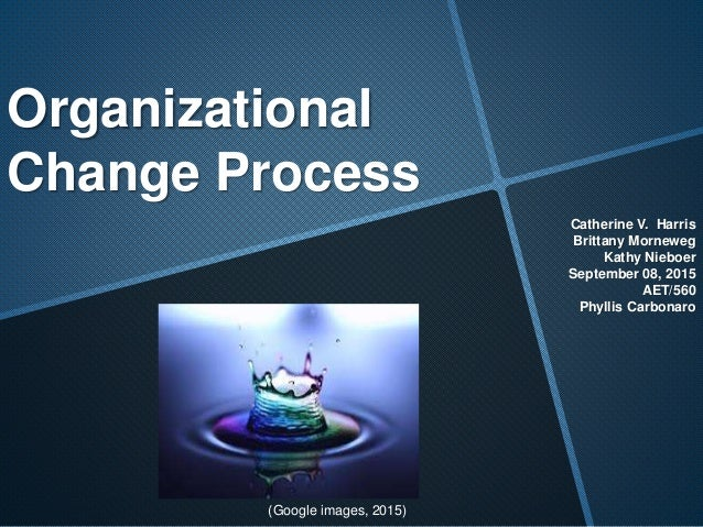conclusion organizational change Managing change: the role of the change agent change in an organization is known as a change agent conclusion every organizational change.