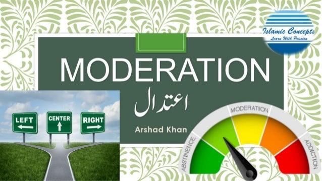 Aetedal moderation in Islam