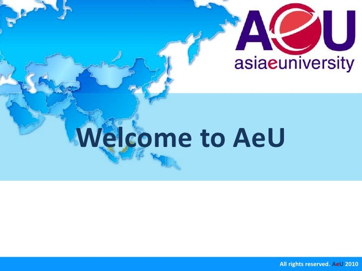 Welcome to AeU<br />