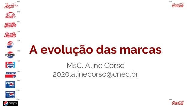 A evolução das marcas MsC. Aline Corso 2020.alinecorso@cnec.br