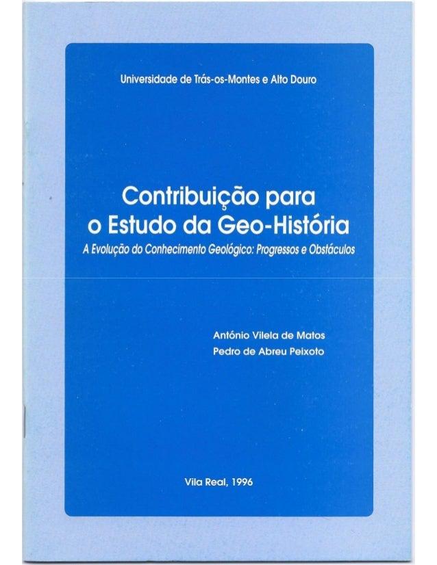A Evolução do conhecimento geológico: progressos e obstáculos