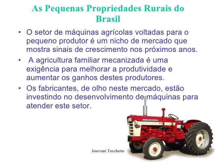 As Pequenas Propriedades Rurais do Brasil <ul><li>O setor de máquinas agrícolas voltadas para o pequeno produtor é um nich...