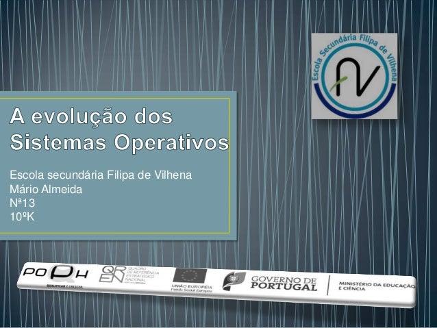 Escola secundária Filipa de Vilhena Mário Almeida Nª13 10ºK