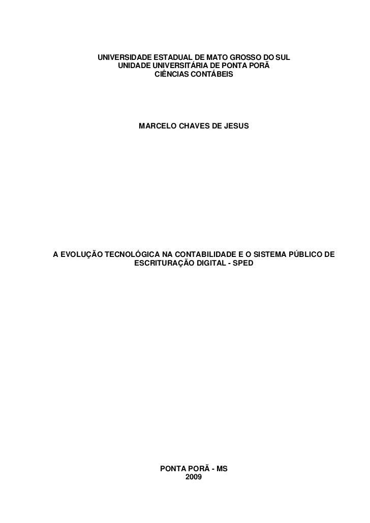 UNIVERSIDADE ESTADUAL DE MATO GROSSO DO SUL              UNIDADE UNIVERSITÁRIA DE PONTA PORÃ                      CIÊNCIAS...