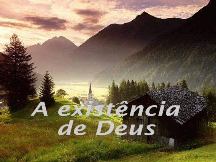 A existência de Deus
