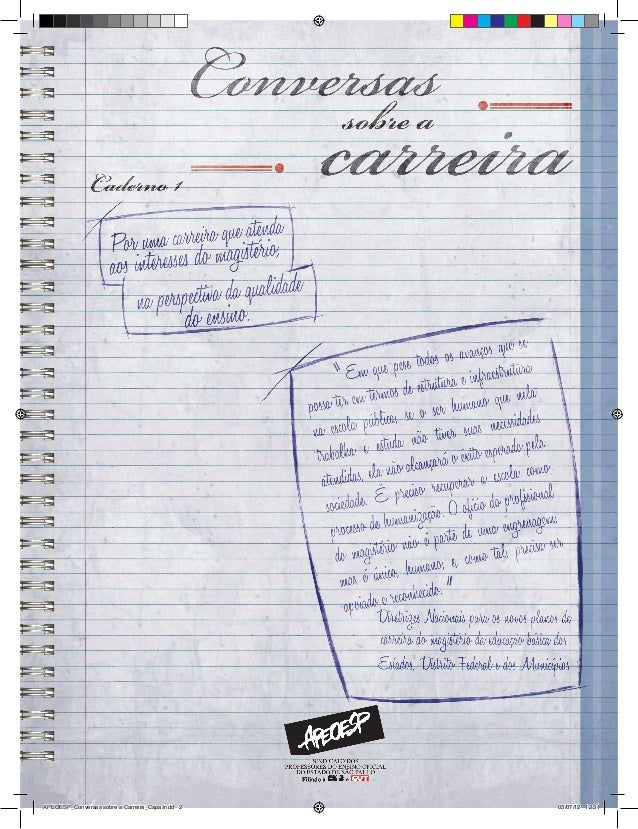 APEOESP_Conversas sobre a Carreira_Capa.indd 2   03/07/12 12:31