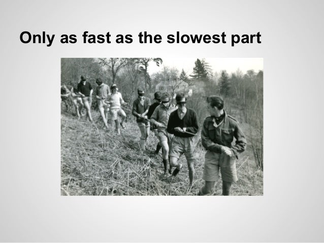 Only as fast as the slowest part