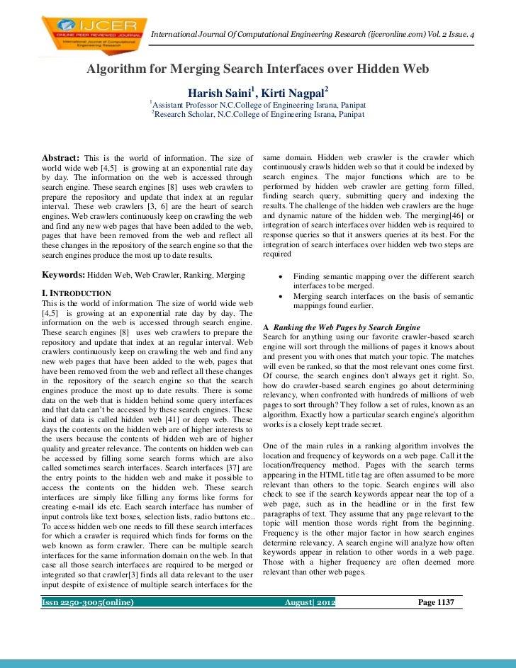International Journal Of Computational Engineering Research (ijceronline.com) Vol. 2 Issue. 4              Algorithm for M...