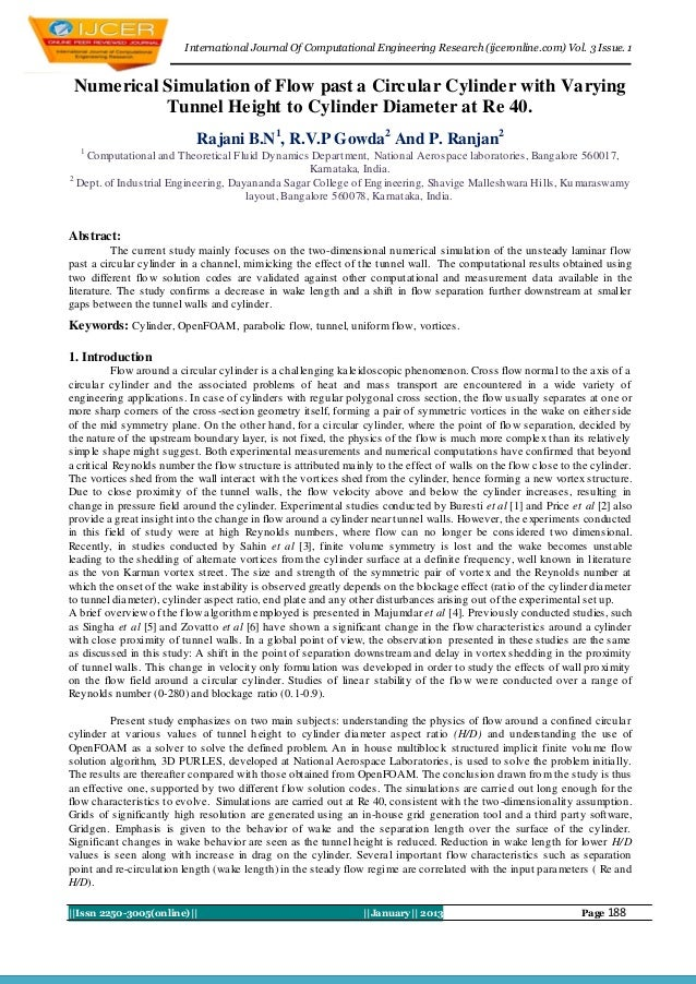 I nternational Journal Of Computational Engineering Research (ijceronline.com) Vol. 3 Issue. 1 Numerical Simulation of Flo...