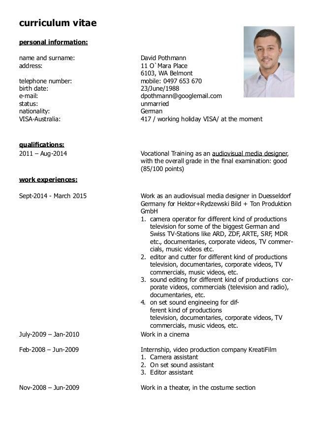 david pothmann cv and certifications