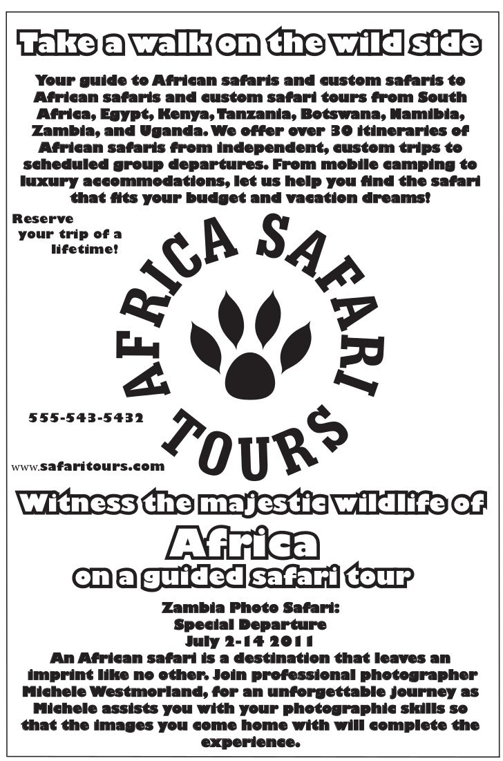 Take a walk on the wild side   Your guide to African safaris and custom safaris to   African safaris and custom safari tou...