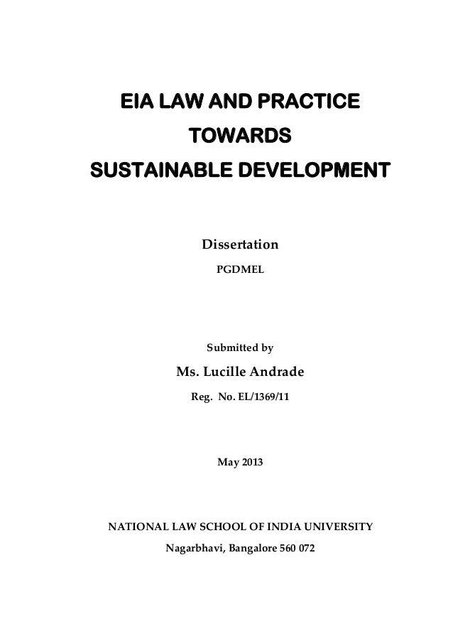 Env Law dissertation
