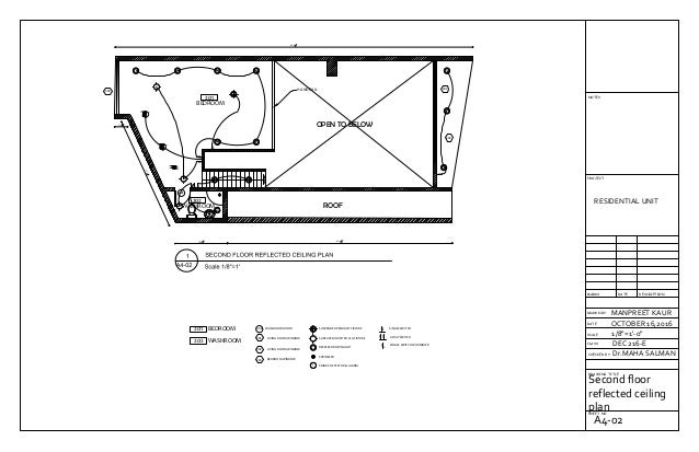 auto cad drawing layouts of residential unit