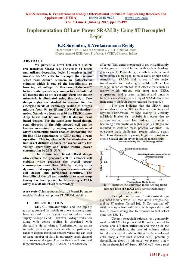 K.R.Surendra, K.Venkatramana Reddy / International Journal of Engineering Research and Applications (IJERA) ISSN: 2248-962...