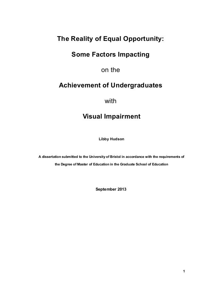 dissertation of m.ed