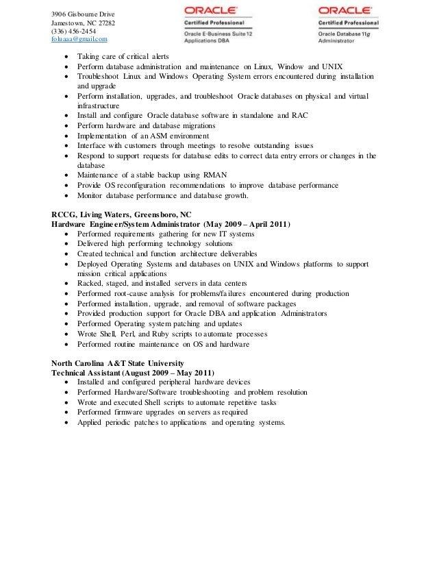 folu u0026 39 s oracle apps dba resume 2