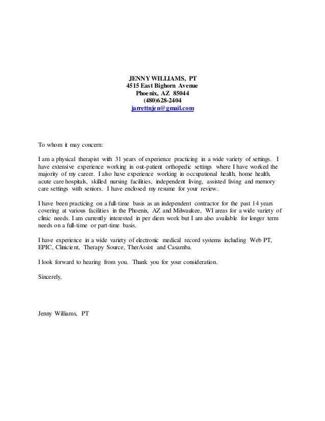 Cover letter - updated