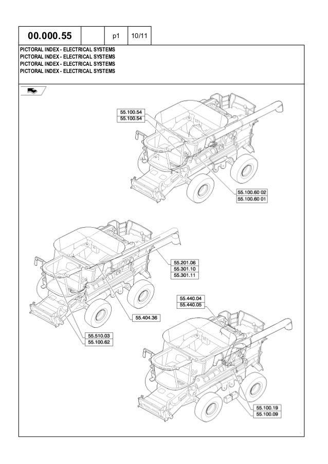 5130 6130 7130 Case Midrange Combine Tire Parts Catalog