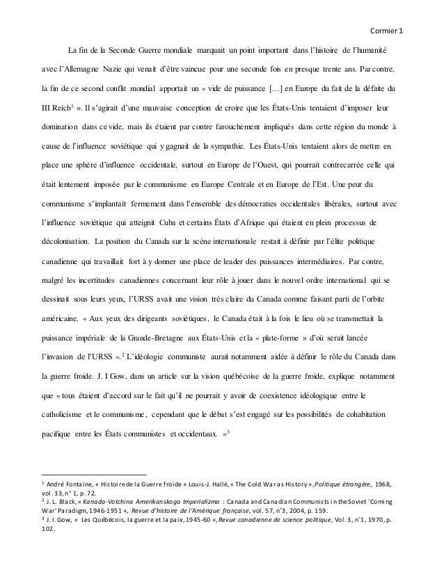Cormier1 La fin de la Seconde Guerre mondiale marquait un point important dans l'histoire de l'humanité avec l'Allemagne N...