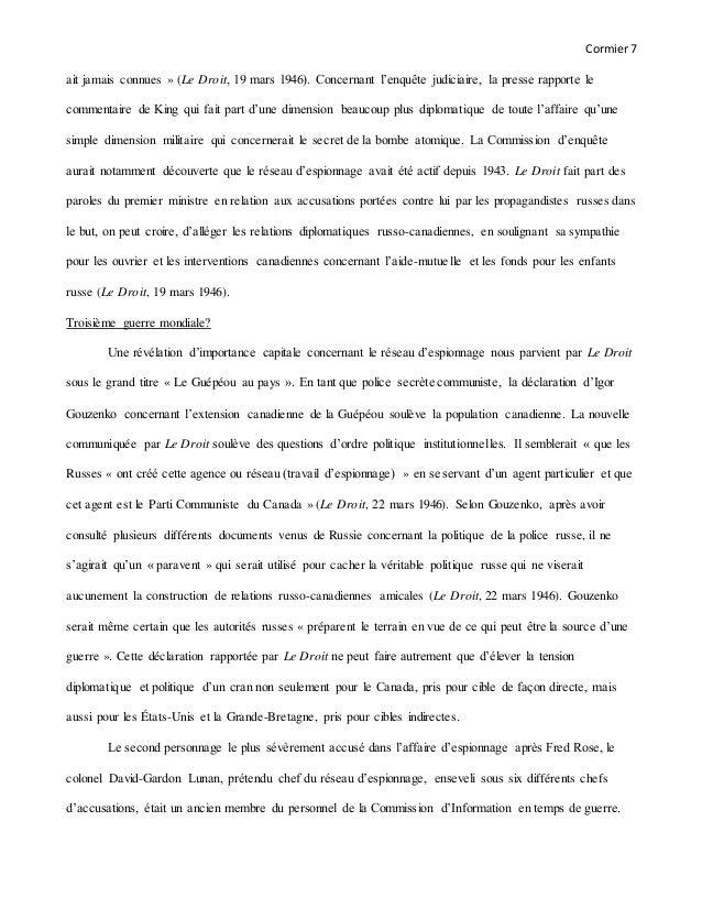 Cormier7 ait jamais connues » (Le Droit, 19 mars 1946). Concernant l'enquête judiciaire, la presse rapporte le commentaire...