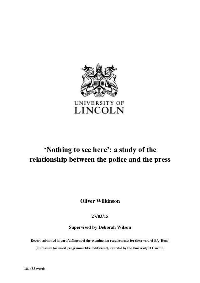 Uni dissertation
