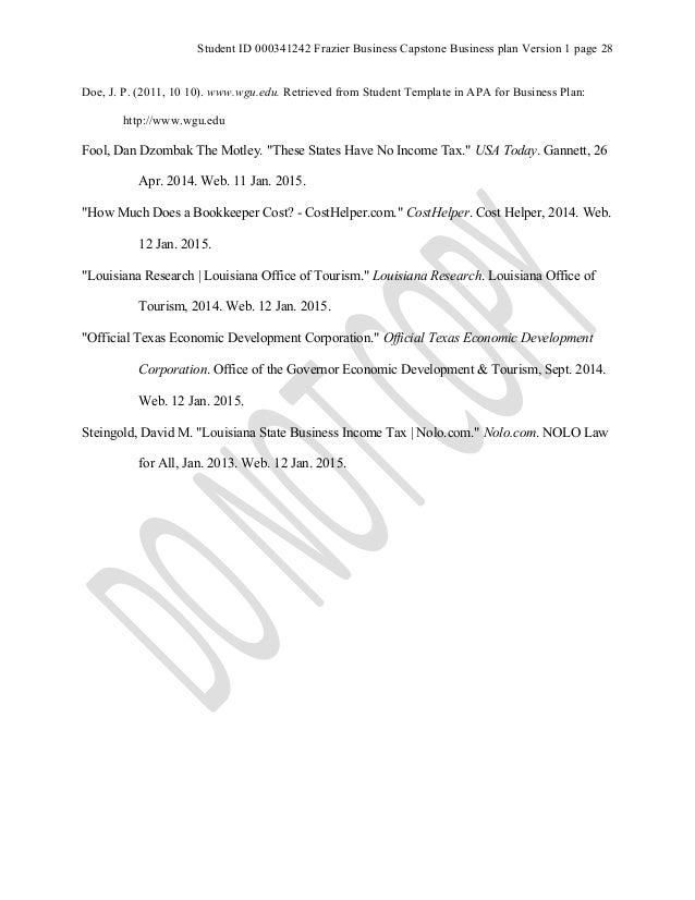 Wgu capstone business plan   Essay Sample - kktermpaperobtl
