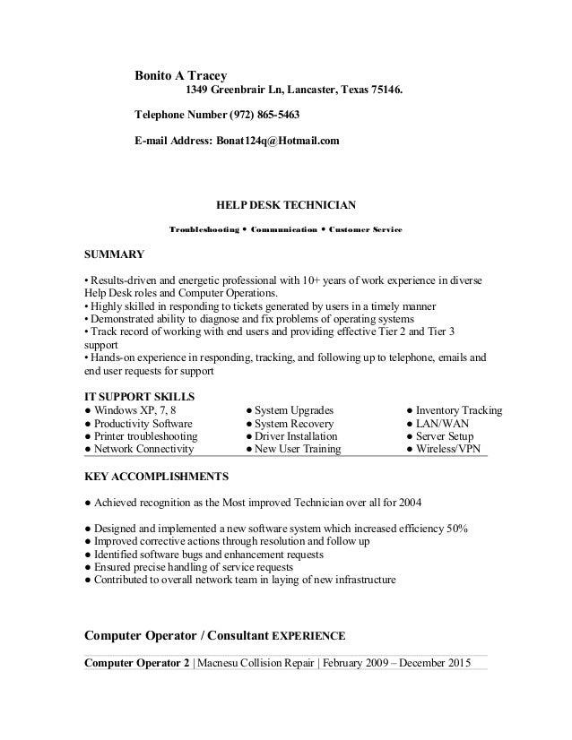 bonito tracey updated resume u0026 39  doc