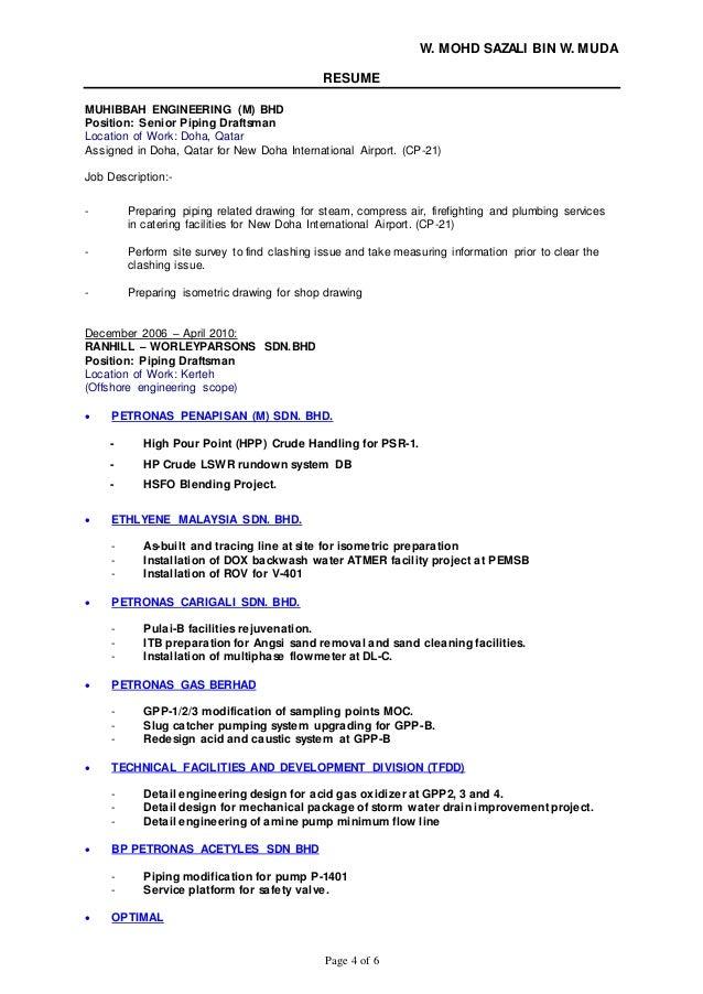 architectural designer resume job description