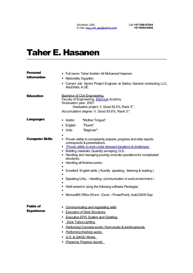 Taher E. Hasanen Personal Information  Full name: Taher Ibrahim Ali Mohamed Hasanen  Nationality: Egyptian.  Current Jo...