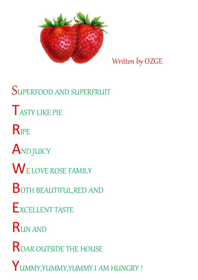 Acrostic poems about Superfoods written by the Turkish team