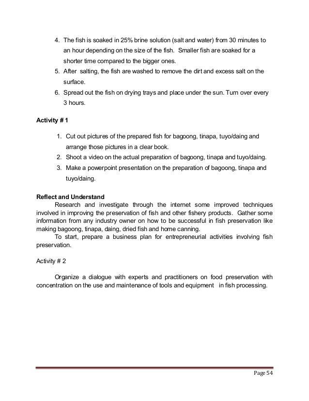 business plan bagoong